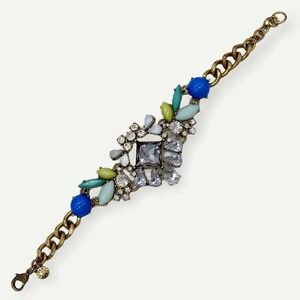 J. Crew Rhinestone Statement Bracelet Chunky Chain